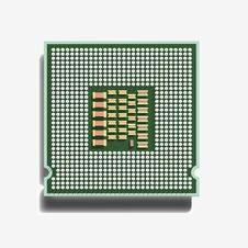 The Central Processor (3D). Stock Photography