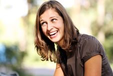 Happy Young Woman Smiling Royalty Free Stock Photos