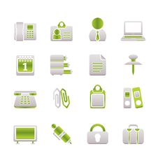 Free Business And Office Icons Royalty Free Stock Image - 13618966