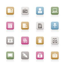 Free Business And Office Icons Stock Photo - 13619010