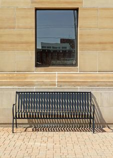 Free Solitary Bench Under Window Royalty Free Stock Photography - 13619817