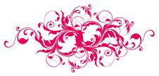 Free Red Flower Pattern Stock Photography - 13619962