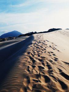 Free Foot Prints On Desert Royalty Free Stock Photos - 136157048