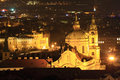 Free Night View On Prague St. Nicholas´ Cathedral Royalty Free Stock Photos - 13629838