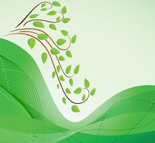 Free Abstract Green Background With Branches Royalty Free Stock Image - 13621156