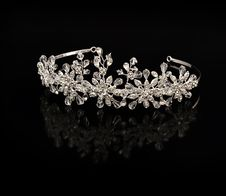 Free Diamond Diadem On A Black Background Stock Photos - 13621223