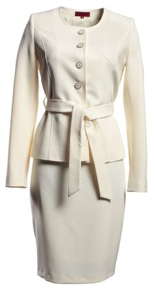 Beige Jacket And Skirt Royalty Free Stock Image