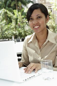Businesswoman Working Royalty Free Stock Image
