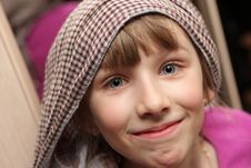 Funny Girl In Scarf Royalty Free Stock Photo