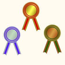 Free West Medals: Champion Medals Royalty Free Stock Photography - 13622037