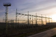 Electrical Transformer Substation Stock Photos