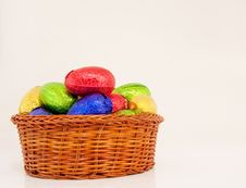 Free Easter Eggs Basket Stock Image - 13622651