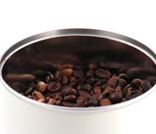 Free Roasted Coffee Beans In A Coffee Machine Stock Photo - 13623030