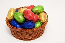 Free Shiny Easter Egg Basket Royalty Free Stock Photo - 13623125
