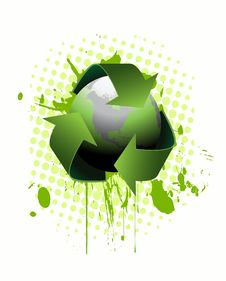 Free Recycling Earth Vector Stock Photo - 13623140