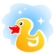 Yellow Duck Stock Image