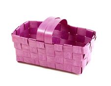 Free Wattled Basket Isolated On White Background Stock Photos - 13623313