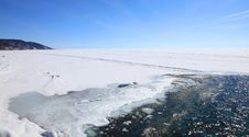 Free Frozen Lake Baikal Royalty Free Stock Images - 13623409