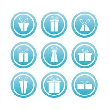 Set Of 9 Gift Signs Royalty Free Stock Images