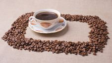 Free Cup Of Coffee On The Canvas Royalty Free Stock Images - 13624039