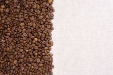 Textile Material And Beans Royalty Free Stock Photography