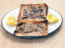 Free Sardines On Toast On A Plate Royalty Free Stock Photography - 13624397