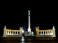 Free Heroes Square Monument, Hungary Royalty Free Stock Photo - 13624585