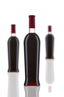 Free Red Wine Bottle Stock Photo - 13624850