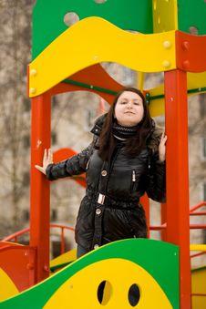 Free Girl On The Playground Stock Photos - 13625283