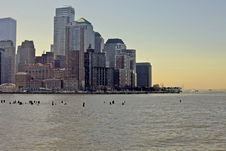 Free Nyc Manhattan Skyline Royalty Free Stock Photography - 13625457