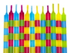 Free Vibrant Birthday Candles Stock Images - 13625894
