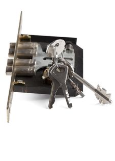Free Lock With Keys Stock Photo - 13625980
