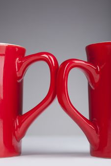 Free Red Handle Cups Royalty Free Stock Images - 13626349