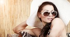 Woman Relaxing On Vacation, Royalty Free Stock Image