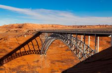Free Bridge Over Glen Canyon Stock Photo - 13627180