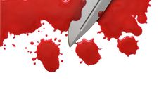Blood And Knife Royalty Free Stock Photo