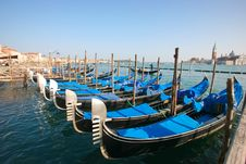 Free Gondolas In Venice Stock Photography - 13627502