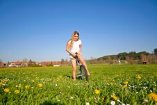 Free Girl In Field Stock Images - 13627844