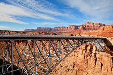 Free Navajo Bridge Royalty Free Stock Photo - 13628235