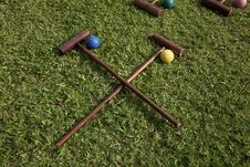Free Croquet Equipment Stock Photography - 13628342