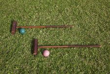 Free Croquet Equipment Royalty Free Stock Photos - 13628468