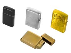 Free Four Cigarette Lighters Stock Image - 13628571