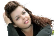 Free Woman With Green Eyes Stock Photography - 13628802