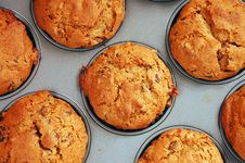 Raisin Walnut Muffins Royalty Free Stock Photo