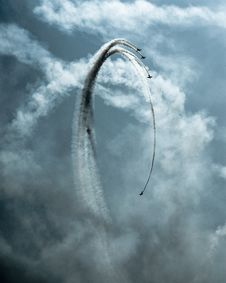 Free Four Planes Doing Stunts Stock Photos - 136260763