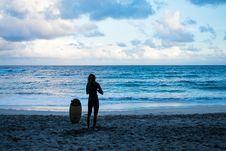 Free Person Standing Near Seashore Stock Image - 136260951
