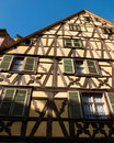 Free Yellow Timber Frame House In Alsace Royalty Free Stock Photography - 13635967