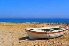 Free Old Boat On The Beach Stock Image - 13630011