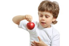 Free Boy With An Apple Royalty Free Stock Photos - 13630328