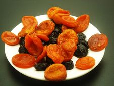 Free Apricots And Prunes Stock Photography - 13630372